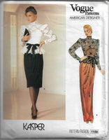 vogue 1189 top dress pattern 1980s