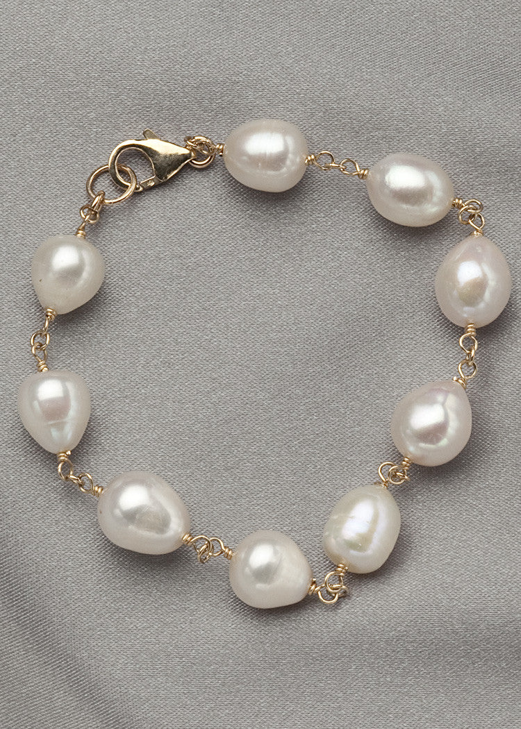 White freshwater pearls
