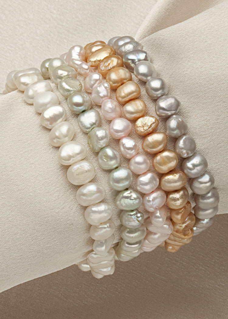 Small pearl freshwater stretch bracelets