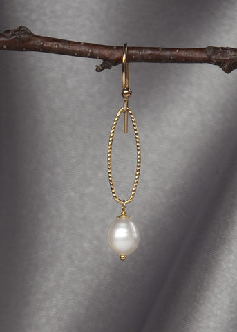 14k gold fill, and pearl drop