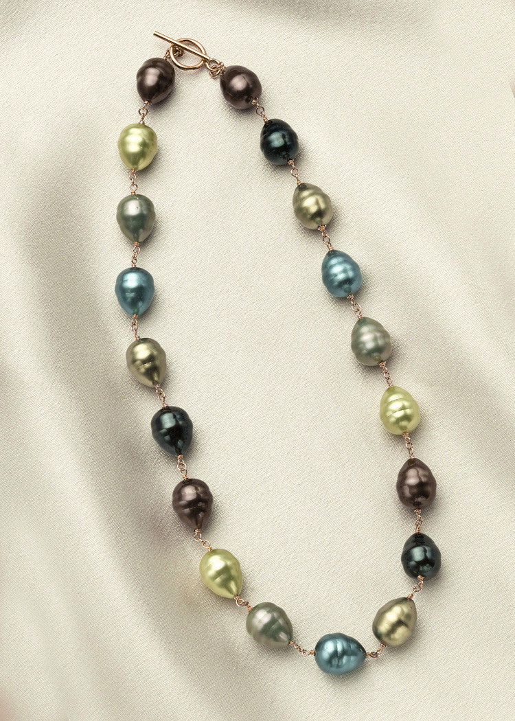 Baroque 20mm shell pearls, in a beautiful array of color