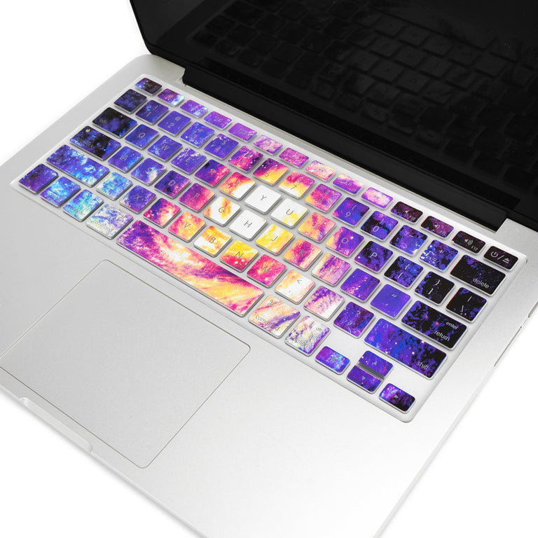 "Galaxy Ultra Thin Soft Silicone Keyboard Cover Skin for Macbook 13"" 15"" 17"""