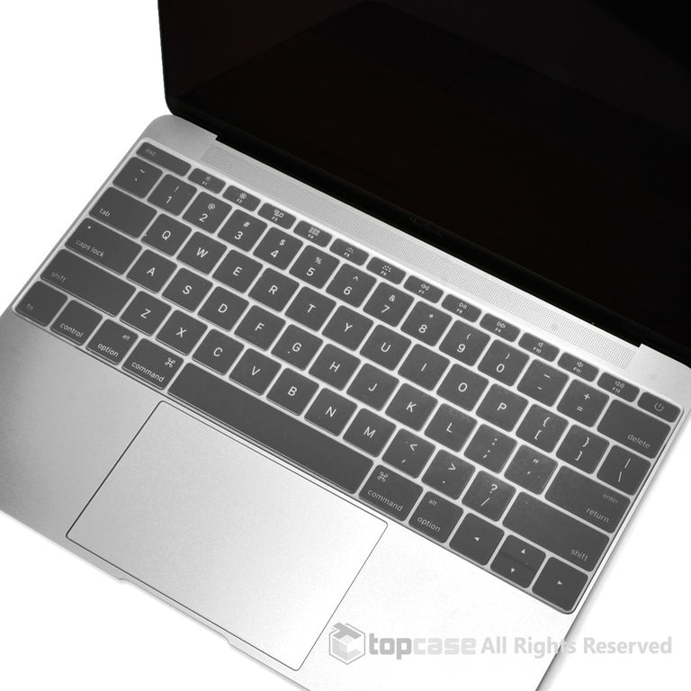 "Apple New Macbook 12"" Clear keyboard Cover Silicone Skin for Macbook 12-inch with Retina Display Model A1534 Newest Version 2015 - TOP CASE"