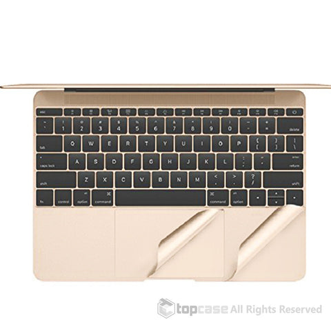 "TopCase Gold Palm Rest Cover Skin with Trackpad Protector for Macbook 12-Inch 12"" Model A1534 with Retina Display (Release 2015)"
