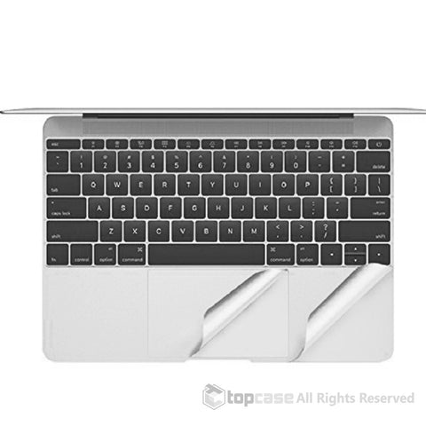 "TopCase Silver Palm Rest Cover Skin with Trackpad Protector for Macbook 12-Inch 12"" Model A1534 with Retina Display (Release 2015)"