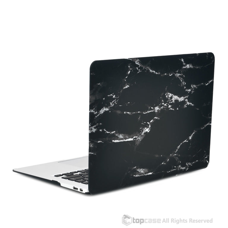 "Black Marble Rubberized Hard Case for MacBook Air 11"" Model: A1370 and A1465 - TOP CASE"