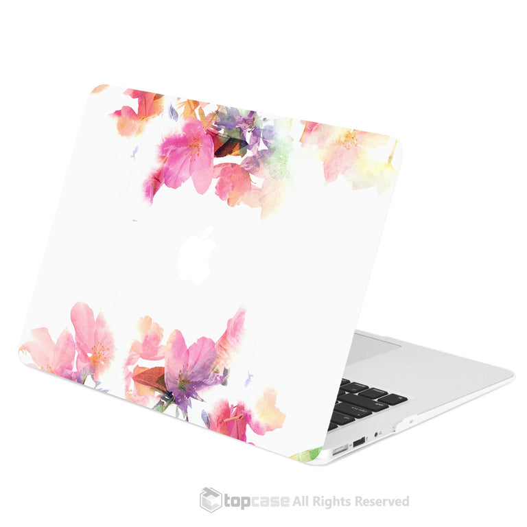 "TOP CASE - Vibrant Summer Series Rubberized Hard Case Cover for Macbook Air 13"" - Violet Reflection"