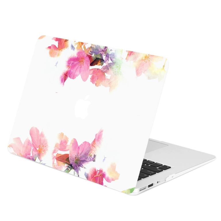 "Air 11-Inch Floral Reflection Pattern Graphics Rubberized Hard Case Cover for Macbook Air 11"" Model: A1370 / A1465 – Violet Reflection"