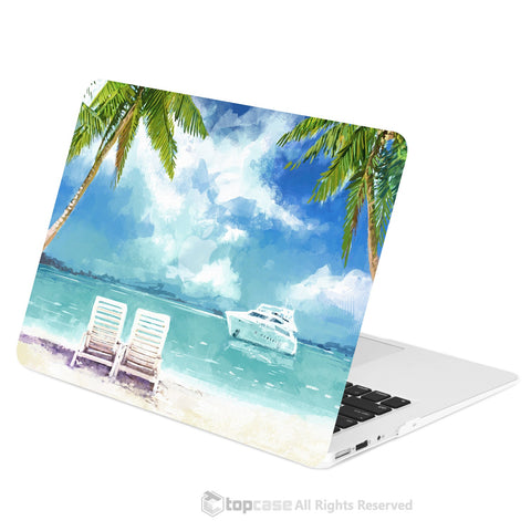 "TOP CASE - Art Printing Series Rubberized Hard Case Cover for Macbook Air 13"" - Beach Day"