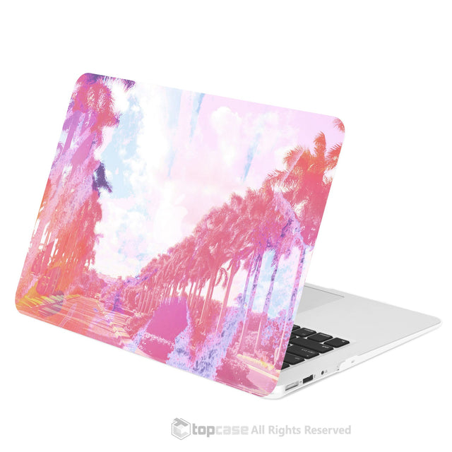 "TOP CASE - Vibrant Summer Series Rubberized Hard Case Cover for Macbook Air 13"" - California Sunset"