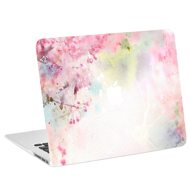 "Air 11-Inch Vibrant Summer Series Graphic Rubberized Hard Case Cover for Macbook Air 11"" Model: A1370 / A1465 – Cherry Blossom"