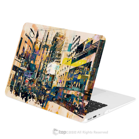 "TOP CASE - City Street Retro Abstract Hard Case Cover for Macbook Air 13"" - City Street Abstract"