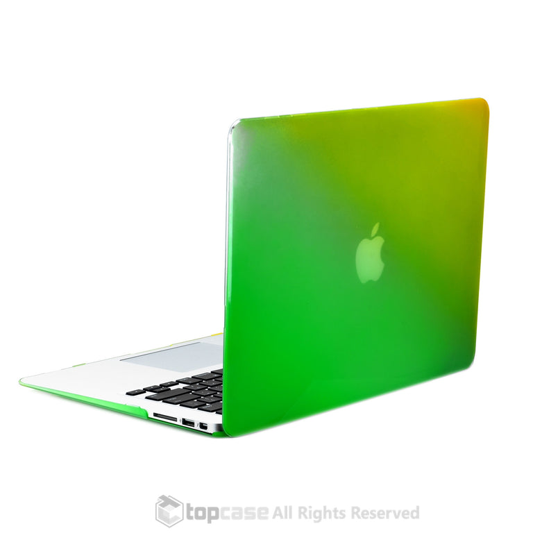 Faded Ombre Yellow & Green UV High Glossy Hard Case for MacBook Air 13""