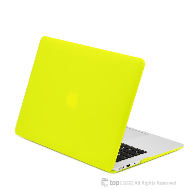 "Rubberized Neon Yellow Hard Case for Macbook Air 13"" A1369 and A1466"