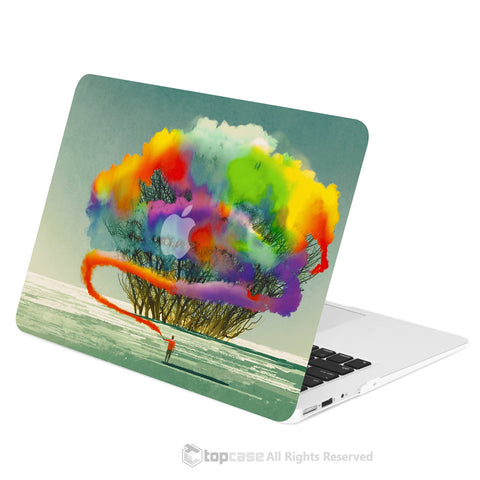 "TOP CASE - Art Printing Series Hard Case Cover for Macbook Air 13"" - Cotton Candy Colorful Tree"