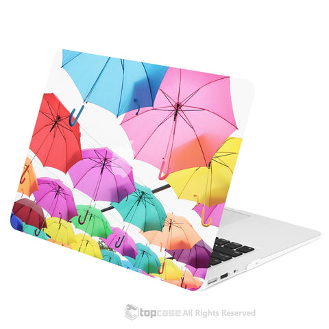 "TOP CASE - Art Printing Series Graphic Rubberized Hard Case Cover for Macbook Air 13"" - Umbrella Sky"
