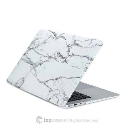 "White Marble Rubberized Hard Case for MacBook Air 11"" Model: A1370 and A1465"