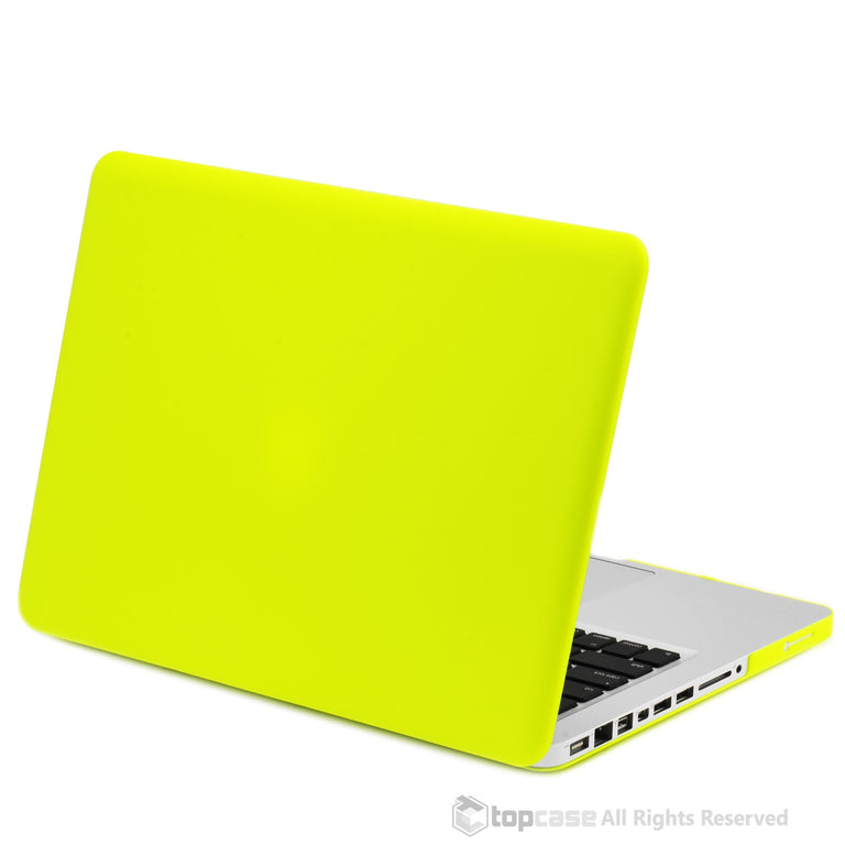 the latest 9da30 d144f Neon Yellow Rubberized Hard Case Cover for Apple Macbook PRO 13