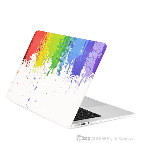 "Paint Splash Rubberized Hard Case for MacBook Air 13"" Model A1369 and A1466"