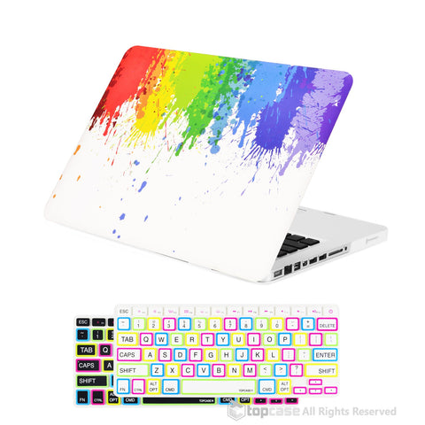 "TOP CASE 2 in 1 - Macbook Pro 13"" Paint Splash Matte Case + Keyboard Skin"
