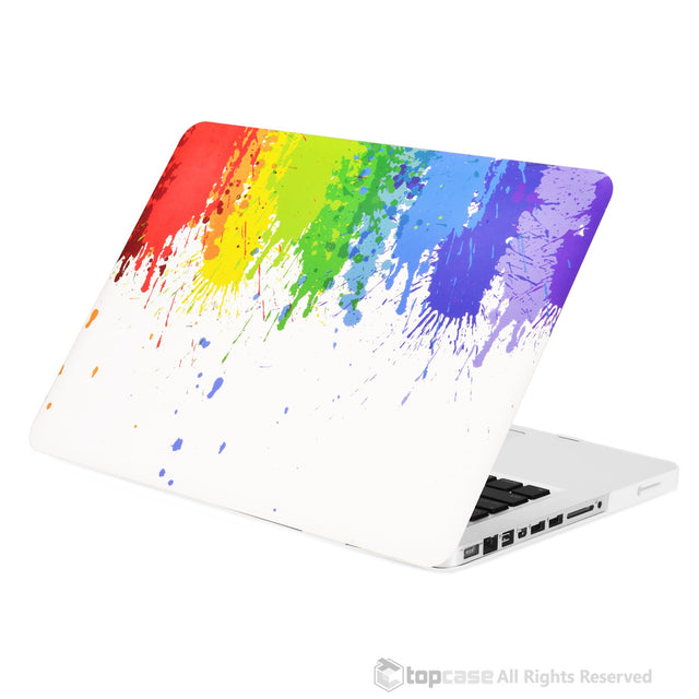 "Color Paint Splash Rubberized Hard Case for MacBook Pro 13"" Model A1278 - TOP CASE"
