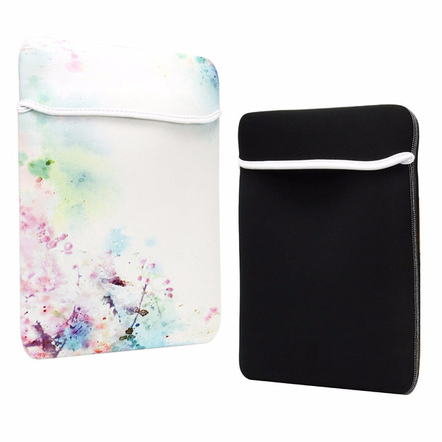 "TOP CASE Cherry Blossom Graphic Reversible Sleeve Bag Cover for Most 13"" Laptop Notebook / Macbook / Ultrabook / Chromebook"
