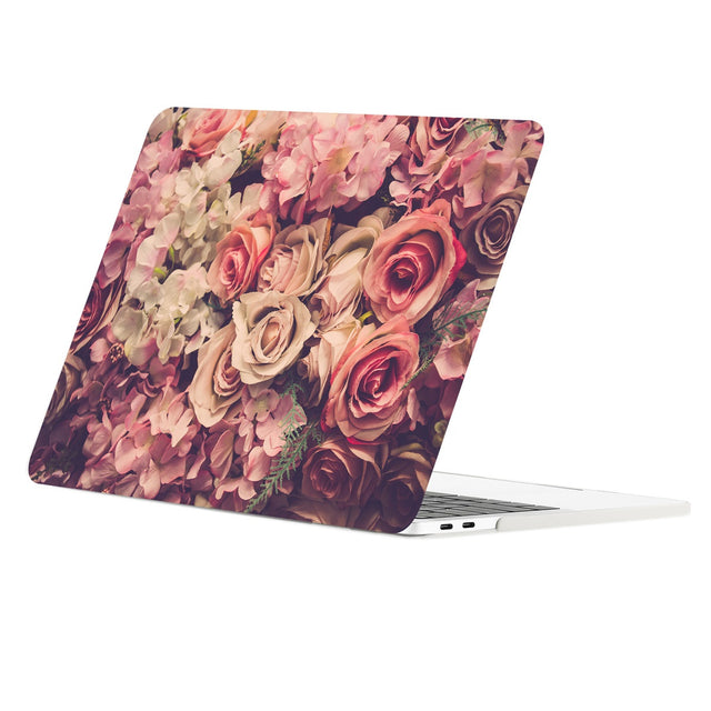 TOP CASE - Floral Pattern Graphic Rubberized Hard Case Cover for MacBook Pro 15-inch A1707/A1990 with Touch Bar( Release Oct 2016/17/18) - Lavish Floral