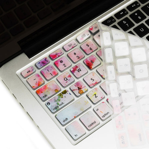 "Cherry Blossom Ultra Thin Soft Silicone Keyboard Skin for Old Generation Macbook 13"" 15"" 17"""