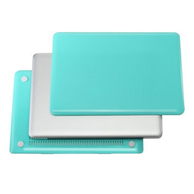 "TOP CASE 4 in 1 - Macbook Pro 13"" A1278 Crystal Case + Sleeve Bag + Keyboard Cover + LCD (HOT BLUE)"