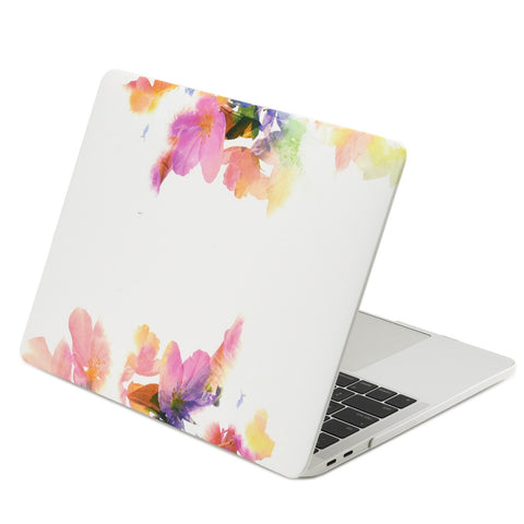 TOP CASE - Macbook Pro 15 Case 2016, Floral Pattern Graphic Rubberized Hard Case Cover for MacBook Pro 15-inch A1707 with Touch Bar( Release Oct 2016 ) - Violet Reflection