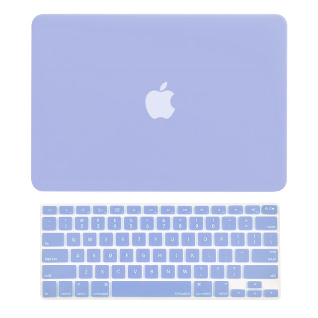 "2 in 1 Bundle Deal Rubberized Hard Case and Keyboard Cover for Old Generation Macbook Pro 13-Inch (13"" Diagonally) with CD-ROM / DVD DRIVE A1278 - NOT for retina display - Serenity Blue"