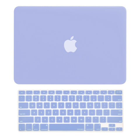 "TOP CASE 2 in 1 - Macbook Air 13"" Rubberized Case Cover + Keyboard Cover - Serenity Blue"
