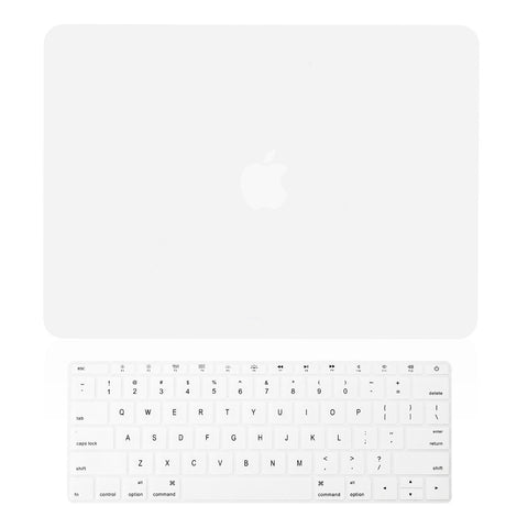 "TOP CASE 2 in 1 – Macbook Retina 12"" Rubberized Case + Keyboard Skin - White"