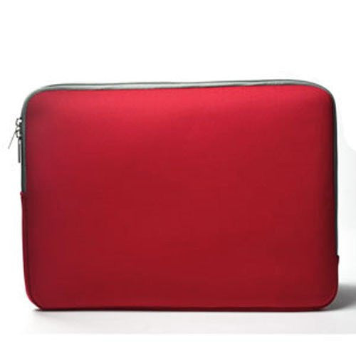 "Zipper Sleeve Red Bag Case Cover for All Laptop 15"" Macbook or Laptop with Similar Demensions"