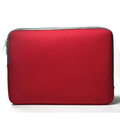 "Zipper Sleeve Red Bag Case Cover for All Laptop 13"" Macbook / Pro / Air"