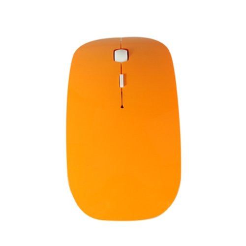 Orange USB Wireless Optical Mouse for Macbook All Laptop - TOP CASE