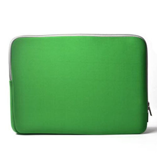 "Zipper Sleeve Bag Green Case Cover for All Laptop 15"" Macbook or Laptop with Similar Demensions"