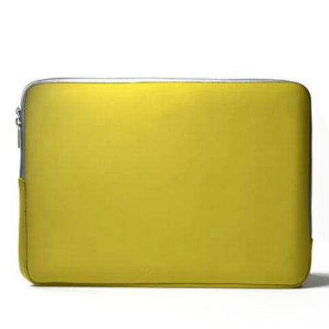 "Zipper Sleeve Yellow Bag Case Cover for All Laptop 11"" Macbook / Pro / Air"