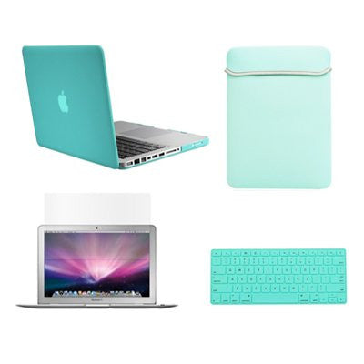 "TOP CASE 4 in 1 - Macbook Pro 13"" Matte Case + Sleeve + Keyboard Skin + LCD - HOT BLUE"