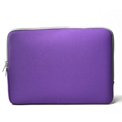 "Zipper Sleeve Purple Bag Case Cover for All Laptop 11"" Macbook / Pro / Air"