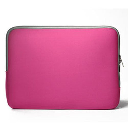 "Zipper Hot Pink Sleeve Bag Case Cover for All Laptop 11"" Macbook / Pro / Air"