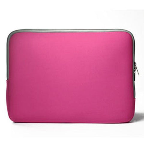 "Zipper Hot Pink Sleeve Bag Case Cover for All Laptop 13"" Macbook / Pro / Air"