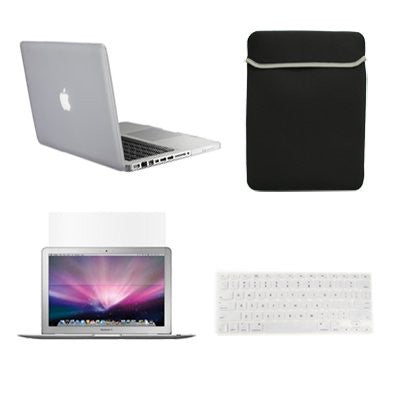 "TOP CASE 4 in 1 – Macbook Pro 15"" Rubberized Case + Sleeve + Keyboard Skin + LCD - Clear"