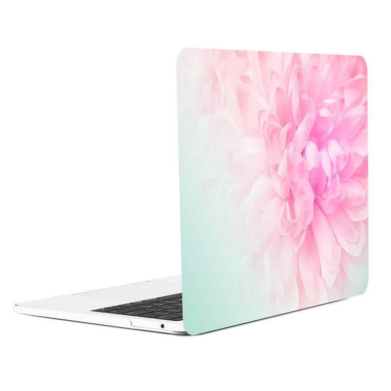 Floral Pattern Graphic Rubberized Hard Case for MacBook Pro 13-inch A1706 / A1989 with Touch Bar / A1708 without Touch Bar ( Release 2016/17/18 ) - Pink Peony