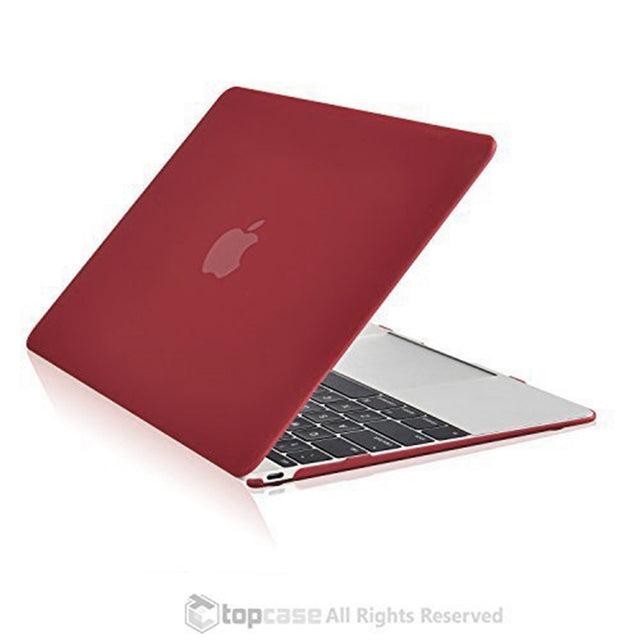 "Apple the New Macbook 12-Inch 12"" Retina Display Laptop Computer Wine Red Rubberized Hard Shell Case Cover for Model A1534 (Newest Version 2015) - TOP CASE"