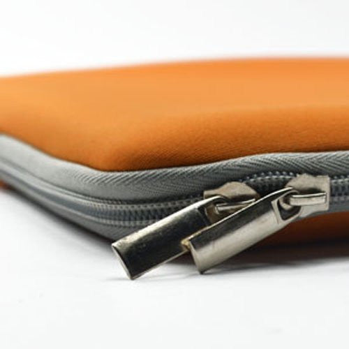 "Zipper Orange Sleeve Bag Case Cover for All Laptop 11"" Macbook / Pro / Air"