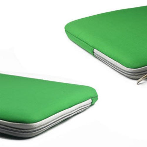"Zipper Sleeve Bag Green Case Cover for All Laptop 13"" Macbook / Pro / Air"