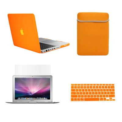 "TOP CASE 4 in 1 - Macbook Pro 13"" Matte Case + Sleeve + Keyboard Skin + LCD - ORANGE"