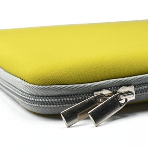"Zipper Sleeve Yellow Bag Case Cover for All Laptop 13"" Macbook / Pro / Air"