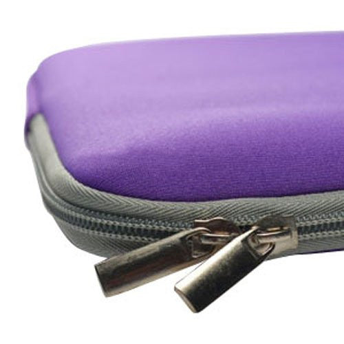 "Zipper Sleeve Purple Bag Case Cover for All Laptop 13"" Macbook / Pro / Air"
